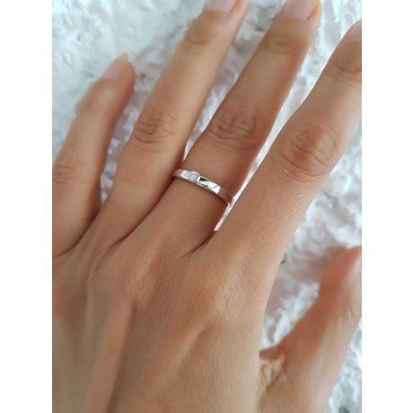 Fede Donna - Oro bianco 1.38gr - Diamante 0.03ct