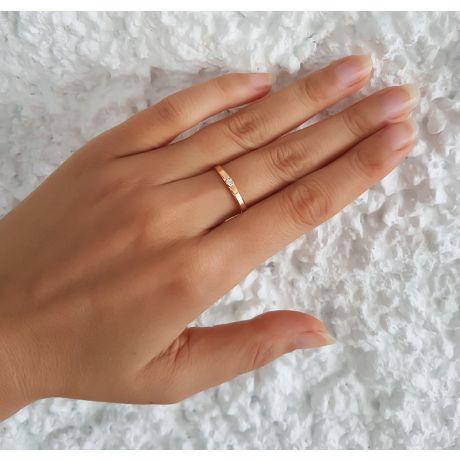 Fede Donna - Oro giallo 1.38gr - Diamante 0.03ct