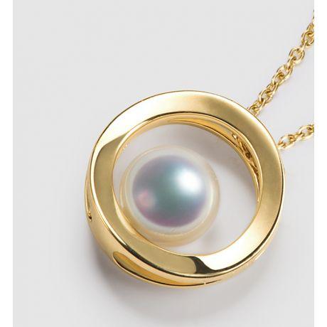 Ciondolo perla Akoya - Himiko - Perla del Giappone, Oro giallo