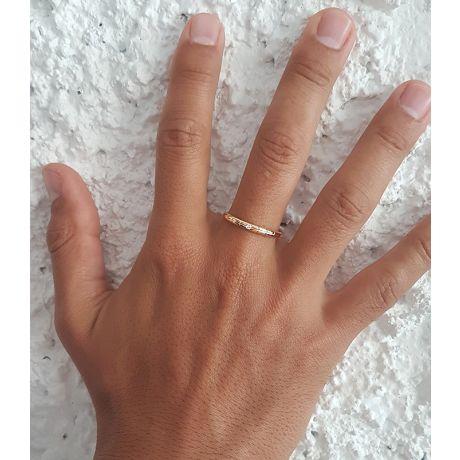 Fedi matrimonio, Fedine -  Oro giallo 3.67gr, Diamanti 0.048ct