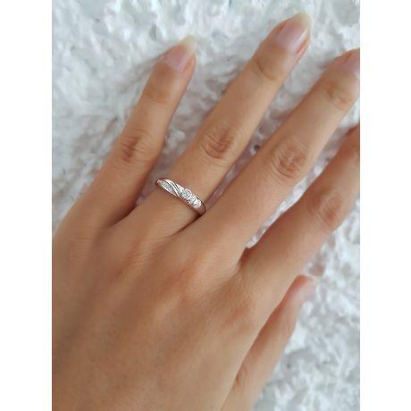 Anello oro bianco - Perla di Tahiti nera, pavone - 9.5/10mm