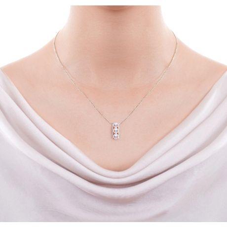 Orecchini e Ciondolo di perle Akoya - AAA, Oro Bianco