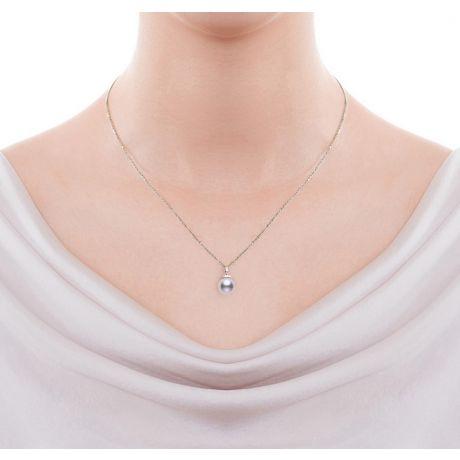 Ciondolo Ojo e Orecchini Daisaku. Oro bianco, Perle Akoya e Diamanti