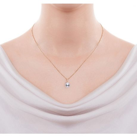 Ciondolo Ojo e Orecchini Daisaku. Oro rosa, Perle Akoya e Diamanti