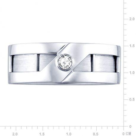 Anello Uomo - Oro bianco e rosa 8.10gr - Diamante 0.060ct