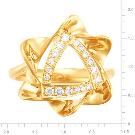 Anello Donna - Oro giallo 4.92gr - Diamanti 0.21ct