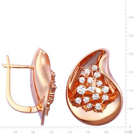 Orecchini - Oro rosa 8.25gr - Diamanti 0.770ct