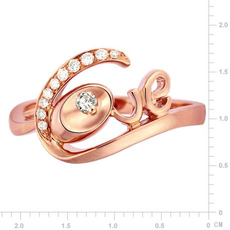 Anello Donna - Oro rosa 3.15gr - Diamanti 0.095ct