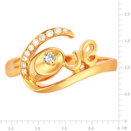 Anello Donna - Oro giallo 3.15gr - Diamanti 0.095ct