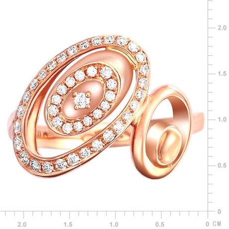 Anello Donna - Oro rosa 3.90gr - Diamanti 0.280ct