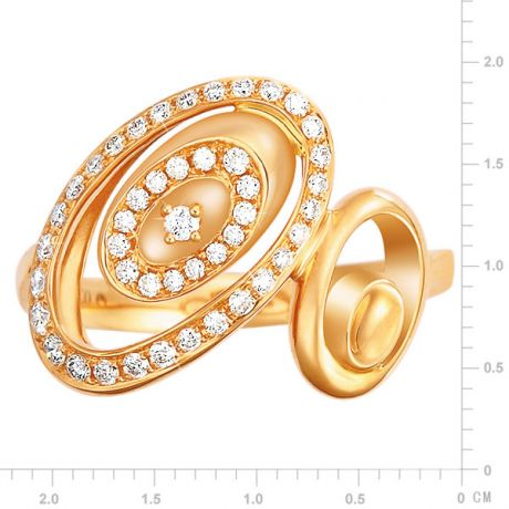 Anello Donna - Oro giallo 3.90gr - Diamanti 0.280ct