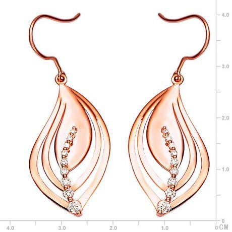 Orecchini - Oro rosa 4.35gr - Diamanti 0.310ct