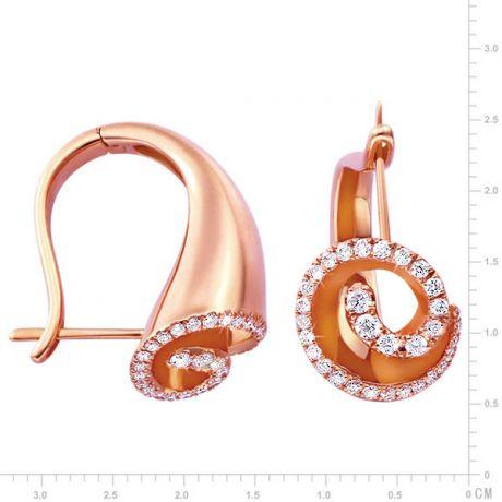 Orecchini - Oro rosa 9.15gr - Diamanti 0.460ct