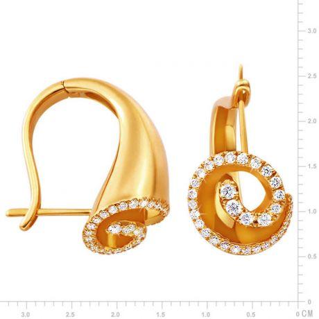 Orecchini - Oro giallo 9.15gr - Diamanti 0.460ct