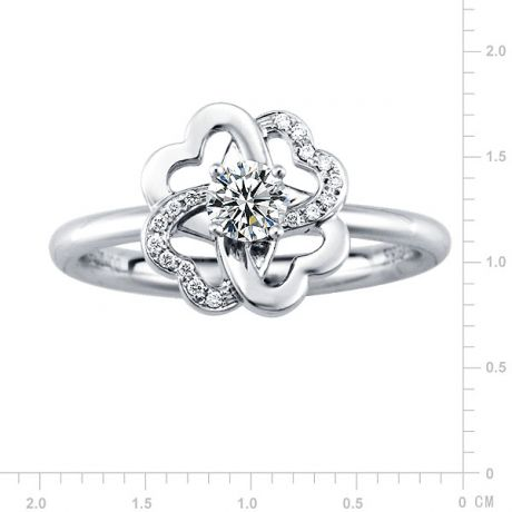 Anello Donna - Oro bianco 4.04gr - Diamanti 0.24ct