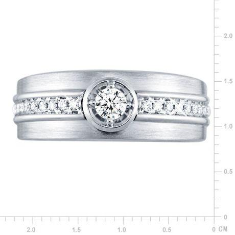 Anello Uomo - Oro bianco 8.20gr - Diamanti 0.193ct