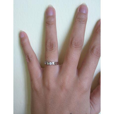 Fede Donna - Oro bianco 1.71gr - Diamante 0.071ct