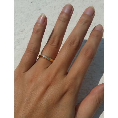 Fede Donna - Oro giallo 2.60gr - Diamanti 0.029ct