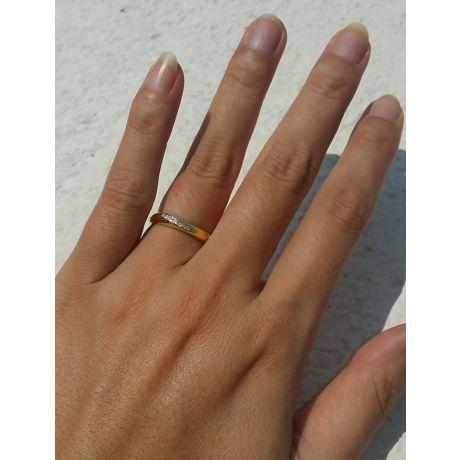 Fedi matrimonio, Fedine -  Oro giallo 5.70gr, Diamanti 0.079ct