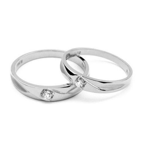 Fedi matrimonio, Fedine -  Oro bianco 5.38gr, Diamanti 0.083ct