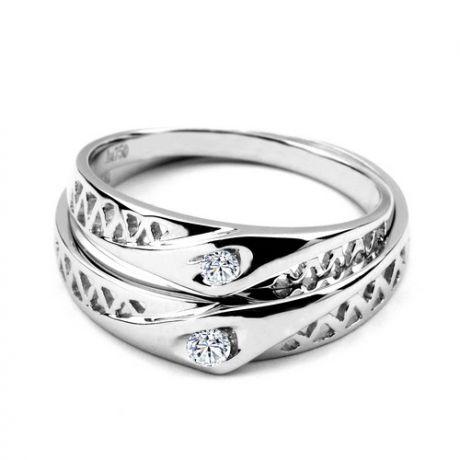 Fedi matrimonio, Fedine -  Oro bianco 5.25gr, Diamanti 0.101ct