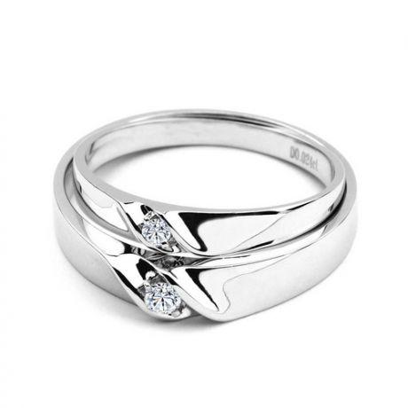 Fedi matrimonio, Fedine -  Oro bianco 6.7gr, Diamanti 0.071ct