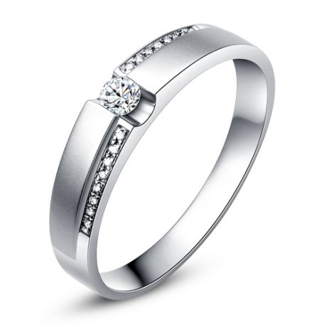 Fedi matrimonio, Fedine -  Oro bianco 8.3gr, Diamanti 0.242ct