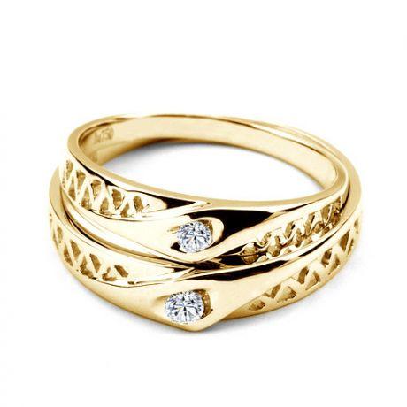 Fedi matrimonio, Fedine -  Oro giallo 5.25gr, Diamanti 0.101ct