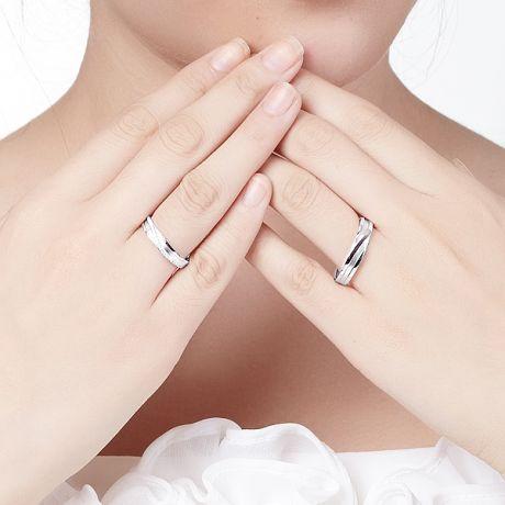 Fedi Matrimonio Mignonne & Bhalcan. Oro bianco 18ct