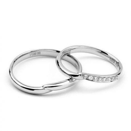 Fedi matrimonio, Fedine -  Oro giallo 5.32gr, Diamanti 0.053ct