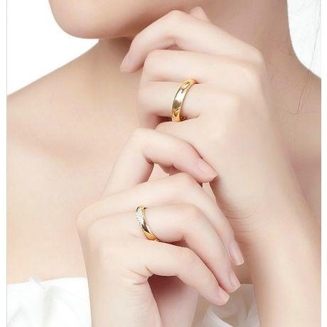 Fedi matrimonio, Fedine -  Oro giallo e diamanti
