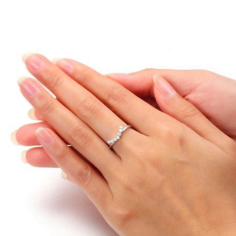 Anello Freedom - Oro bianco e diamanti