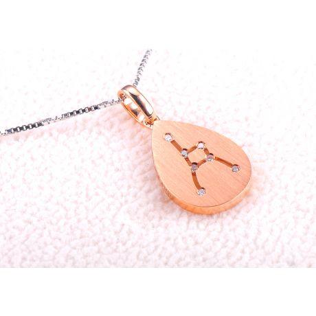 Ciondolo astrologico - Costellazione del cancro - Oro rosa, diamanti