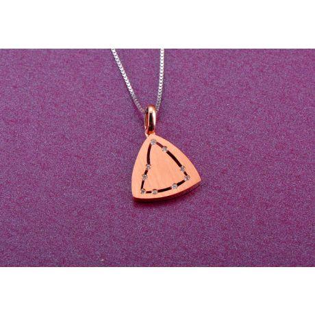 Ciondolo astrologico - Costellazione del capricorno - Oro rosa, diamanti