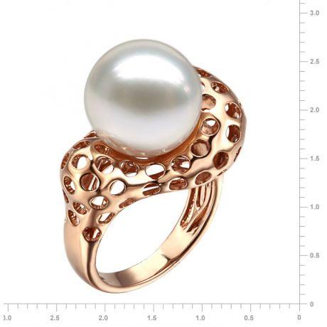 Anello stile corallo - Perla dei Mari del Sud