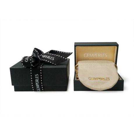 Orecchini perle acqua dolce nere. Monachella oro bianco - 8/9mm. AA+