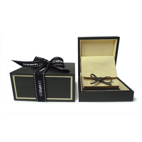 Orecchini foglie - Pendenti oro bianco -  Perle di Tahiti nere, verdi - 10/10.5mm