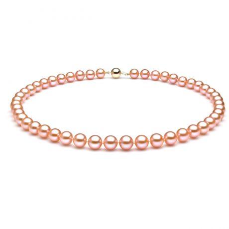 Collana perle acqua dolce rosa - 7.5/8mm, AAA