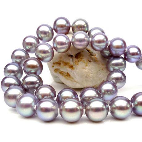 Collana perle acqua dolce lavanda - 7/7.5mm, AAA