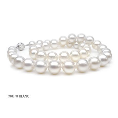 Collana perle acqua dolce bianche - 9.5/10.5mm, AAA