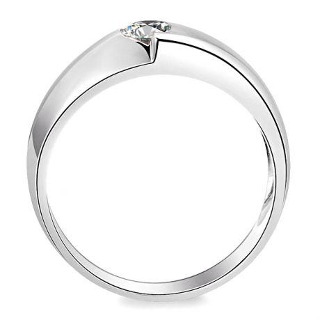 Anello duo Uomo - Oro bianco - Diamante 0.050ct
