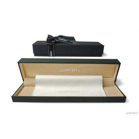 Parure perle d'acqua dolce nere - Collana, braccialetto - 7/7.5mm