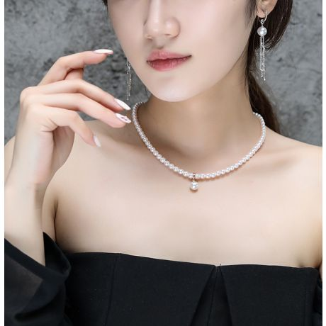 Collana ciondolo perle acqua dolce - 5/9mm,/AAA