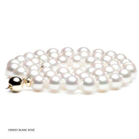 Collana di perle bianche - Akoya giapponesi - 7/7.5mm, AAA