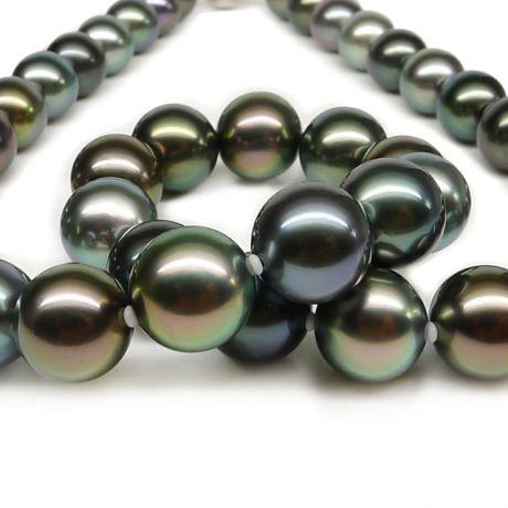 Collier di perle di Tahiti multicolor - Perle di alta qualità e lusso