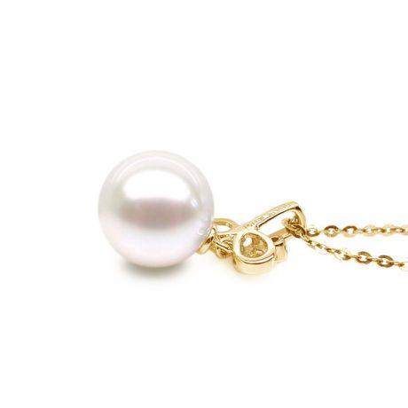 Ciondolo natura - Oro giallo 18ct - Perla d'acqua dolce bianca