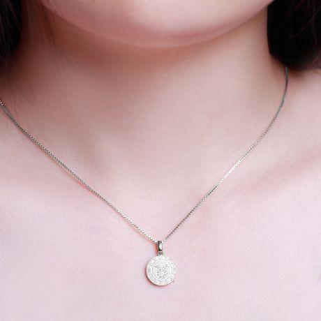 Ciondolo Taurus (Toro) - Oro bianco e diamanti