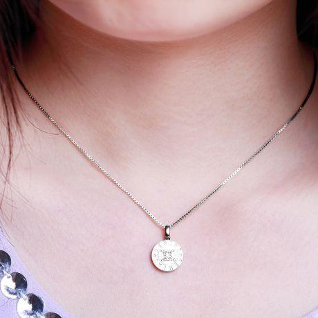 Ciondolo Gemini (Gemelli) - Oro bianco e diamanti