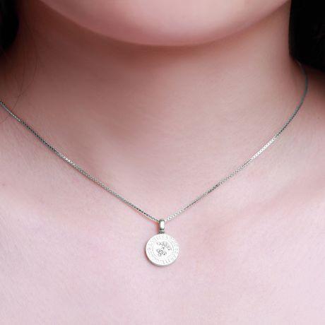 Ciondolo Sagittarius (Sagittario) - Oro bianco e diamanti