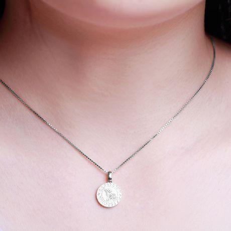 Ciondolo Capricorn (Capricorno) - Oro bianco e diamanti